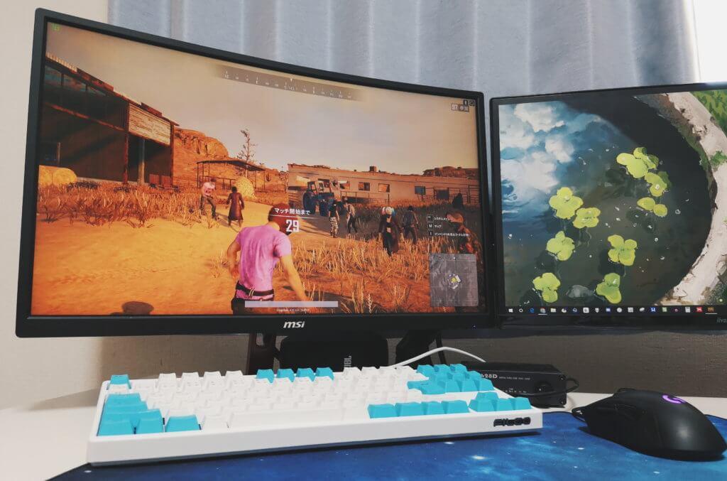 ゲーミングPCでゲームをプレイしている光景